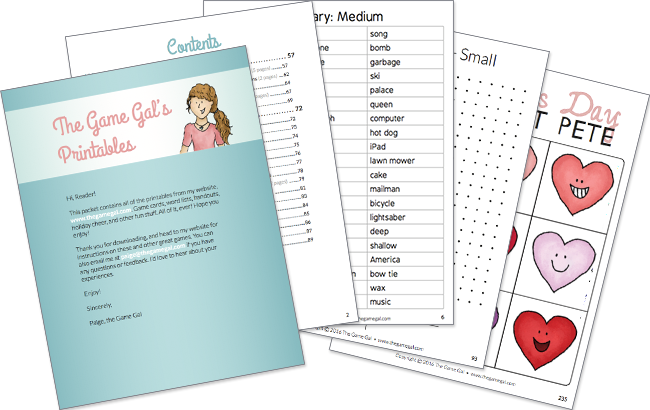 picture about Would You Rather Cards Printable called Cost-free Printable Phrase Lists - The Video game Gal