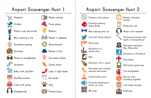 Airport Scavenger Hunt